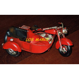 Moto Con Sidecar De Chapa Replica Harley Davidson 3050