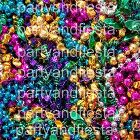 50 Collares Beads Surtidos Por 125 Pesos Fiesta Mardi Gra