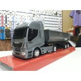 Miniatura Caminhão Iveco Caçamba Basculante Brinquedo Plasti