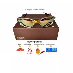Óculos Oakley Juliet 100% 24k 100% Polarizado Pronta Entrega ... 09cbcc5ceb