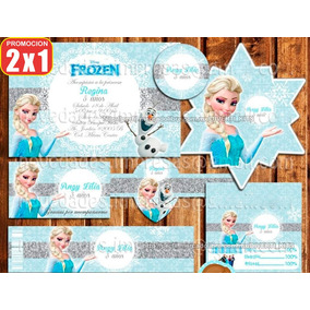 Kit Imprimible Elsa Frozen Mesa Dulces Postres Candy Bar A07