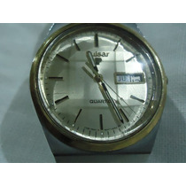 Reloj Seiko Pulsar Vintage Mica Facetada Doble Calendario