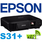 Proyector Epson S31+ 3200 Lumens+bolso 12 Cuotas S/int Local