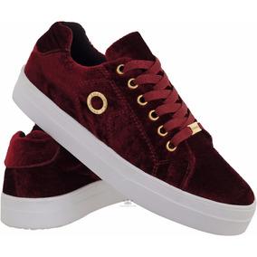 Tenis Sapatenis Feminino Veludo Emanuelly Shoes Original