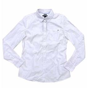 Camisa Blusa Mujer Tommy Hilfiger Manga Larga Blanca Mediana