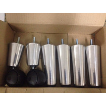 Pés De Alumínio 5x2 P/ Cama Box E Baú - Casal E Solteiro