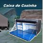 Cozinha Caixa Reforçada 1.20metros Caminhão Carreta Chassi