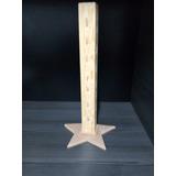 Paletero Madera Con Base De Estrella Mesa De Dulces 41cm