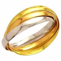 Aliança De Casamento Entrelaçada Ouro 18k 750 M.cartier13