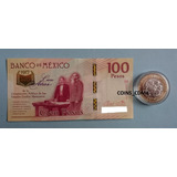 Set Billete $100 Centenario Constitucion Moneda $20 2017 Nvo