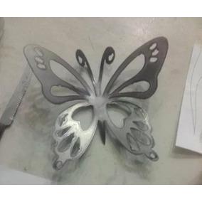 10 Mariposas De Hierro - Centro De Mesa Souvenir Oxido 23anc