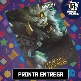 Cartão League Of Legends 6.110 Riot Points Lol Rp Br