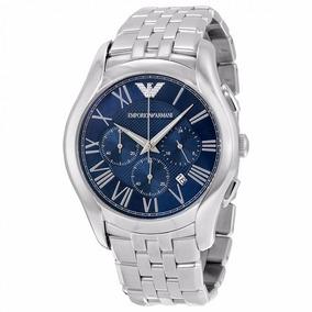 Relógio Empório Armani Ar1787 Prata Azul R60