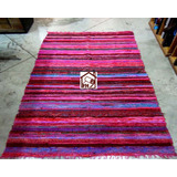 alfombra telar dhurrie beachmat colores vivos x fh