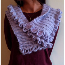 Capa De Hombros Tejida A Crochet