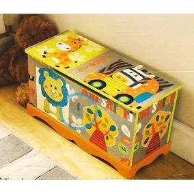 Baú Infantil Em Mdf Para Guardar Brinquedos, Livros Etc