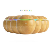 Difusor Humidificador Ultrasonico Luz Led Color Madera Usb .