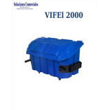 Contenedor De Plastico Para Basura Vifel 2000lts.