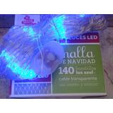 Luces Navidad Led X 140 Azules Mallas Remate
