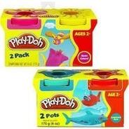 Massinha Play Doh Conjunto C/2 Potes Sortidos - 23655 Hasbro