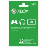 Xbox Live 12 Membresía Dorada Mes
