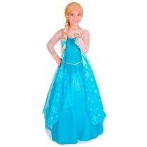 Disfraz Princesa De Hielo Deluxe Talla 2 Contenido Vestido