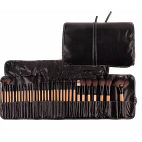 Kit Pincel Maquiagem Profissional 32 Peças Com Estojo Oferta