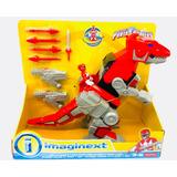 Imaginext Power Rangers Rojo Zord T Rex Fishe Price