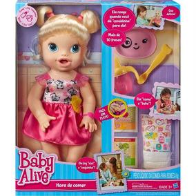 Boneca Baby Alive Hora De Comer Loira C/ Acessórios Hasbro