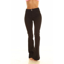 Pantalon Jean Oxford Negro Mujer Marca By Hit