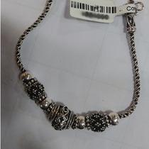 Pulseira Prata 925 Feminina Bali Indiana 19 Cm Joia
