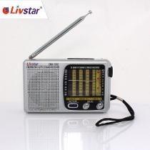 Rádio Portátil Livstar Am/ Fm/ Tv/ Sw 1-9 Cnn 1012