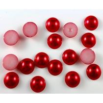 Meia-perola Abs 6mm Vermelho - Arte - Pcte 3.000 Unids