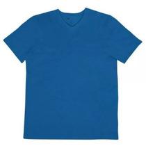 Camiseta Hering M Gola V (022b) - Azul