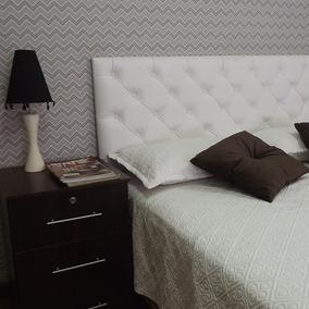 Cabeceira Painel Estofada Branca Cama Box Solteiro 90x60 Rbl