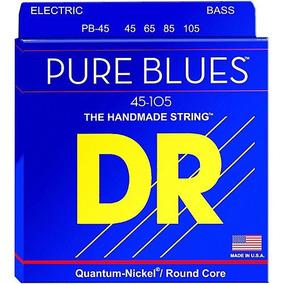 Encordoamento P/ Baixo 4 Cordas Dr Pure Blues 45-105