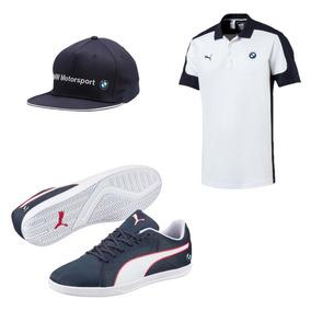 Tenis Puma Bmw Ms Court + Playera Polo Bmw + Gorra Puma Bmw