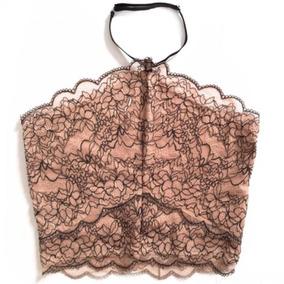 Cropped Top Blusa De Renda Várias Cores - O Mais Lindo
