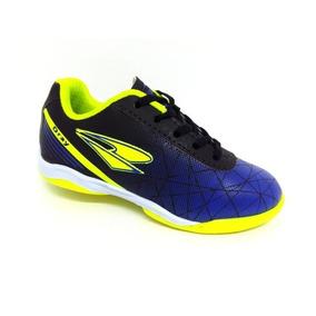 Chuteira Infantil Dray 114 Jr Futsal Indoor Preto azul e00c36aeba4f1