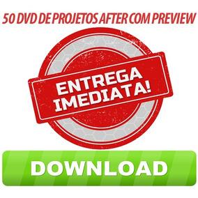 50 Dvd´s De Projetos Editáveis After Efects Entrega Imediata