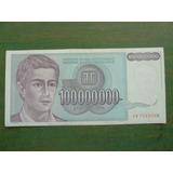Billete Yugoslavia 100 Millones Dinara 1993 Foto Referen- Vp