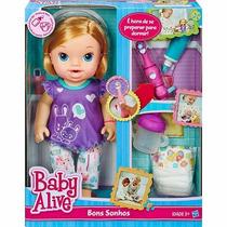 Boneca Boneca Baby Alive Bons Sonhos Morena Hasbro A8349