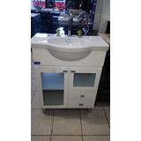 Vanitory Baño Ferrum Venecia Blanco C/ Bacha Losa 64 X 38