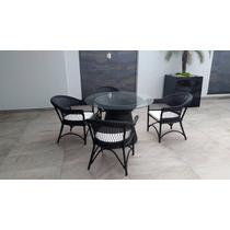 Jogo Conjunto De Mesa 4 Poltronas Cadeiras Em Fibra Aluminio