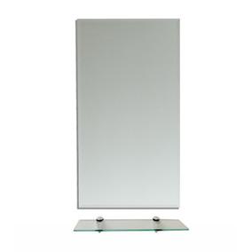 Espelho Para Banheiro (40x50cm) + Prateleira De Vidro