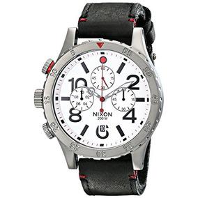 Los Hombres De Nixon A363486 48-20 Chrono Reloj Del Cuero