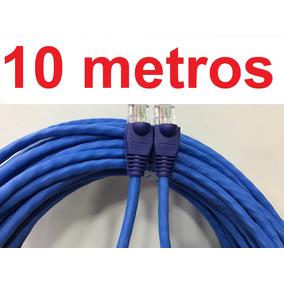 Cabo De Rede Internet Lan Utp Montado 10m - Pronta Entrega !