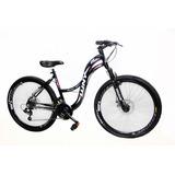 Bicicleta Aro 26 Feminina Wny Sofi Freio Disco 21 Marchas