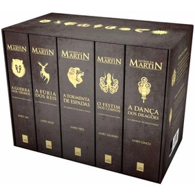 Kit As Crônicas De Gelo E Fogo Box Game Of Thrones 5 Livros