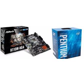 Kit Placa Mãe Asrock H110 + Processador Intel G4600 3.6 1151